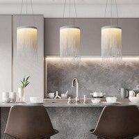 Moderne Anhänger Lichter Silber Kette Lampe Für Küche Esszimmer Schlafzimmer Led Innen Leuchte Neue Einfache Lustre Home Decor