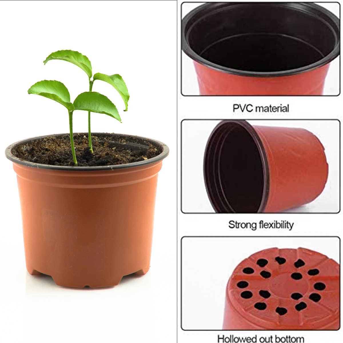100pcs 4 Sizes Plant Pots Flower Planter Garden Planting Container