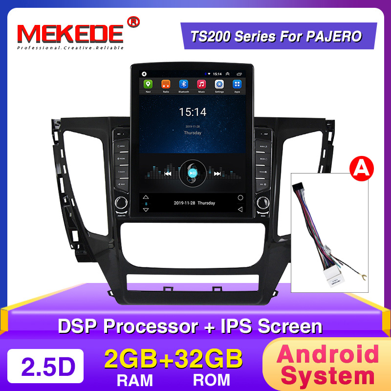 Tesla Screen!android Car Gps Radio For Mitsubishi Pajero Sport 3 2016 2017 2018 With HD1024x768 Colorful Buttons WiFi BT 4G DSP