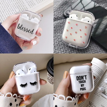 Love Heart Stars Cute Earphone Case For Apple iPhone Charging Box For AirPods Ha