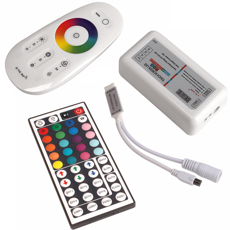 rgb led controller RGBW Controller 2.4G Touch Screen Wireless DC12-24V IR Remote Control led strip 5050