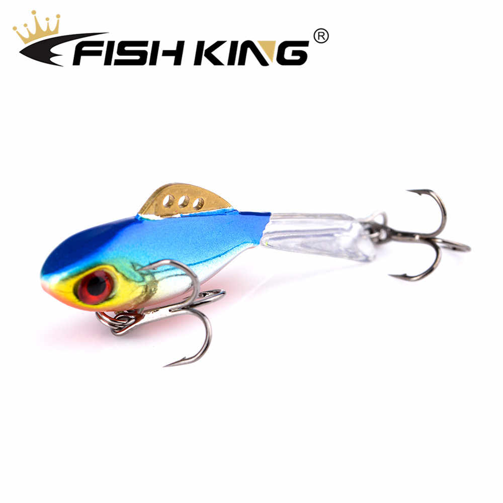 FISH KING Winter Ice Fishing Lure 3D Eyes Colorful AD-Sharp Winter Jig Bait Hard Lure Balancer  Fishing Bait For Ice Fishing