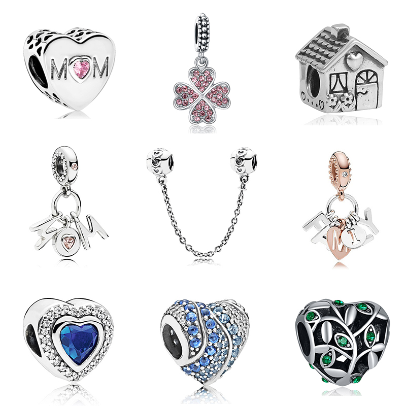 Новинка, сплав, бисерная подвеска в виде сердца для семьи, мамы, папы, любви, подходит для Пандоры, браслет, ожерелье, сделай сам, Женские Ювелирные изделия