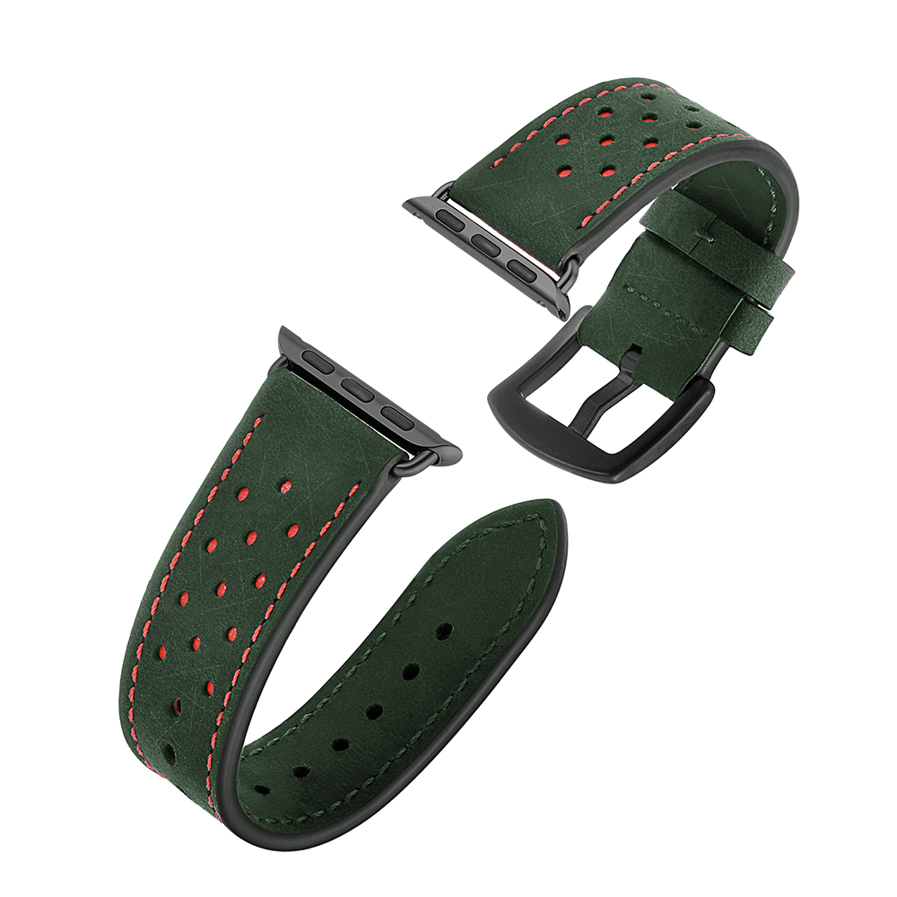Double Color Leather Watch Band Straps For Apple Watch 42 44 Mm,VIOTOO High Quality Green Blue Color Wrist Watch Strap Wholesale