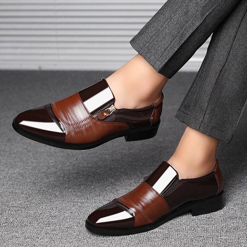Mazefeng Classic Business Men's Dress Shoes Fashion Elegant Formal  Wedding Shoes Men Slip On Office Oxford Shoes For Men Black