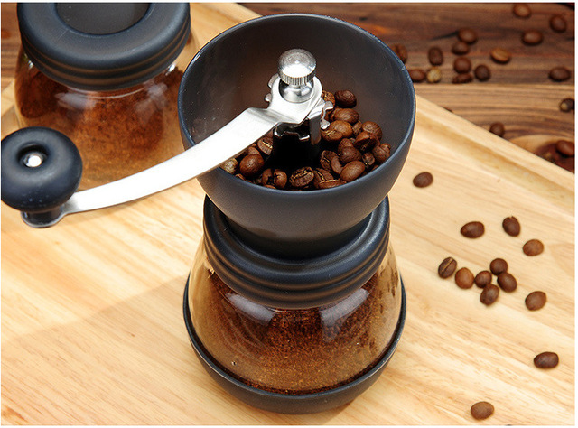 Manual Ceramic Burr Coffee Bean Grinder with Fortified Glass Storage Jar Durable Cafe Bean Mill Coffee Maker Kitchen Tools SP521 4