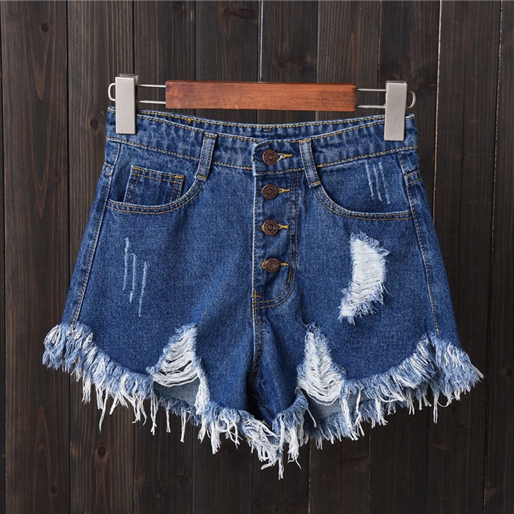 2020 New Arrival Casual Summer Hot Sale Denim Women Shorts High Waists Fur-lined Leg-openings Plus Size Sexy Short Jeans