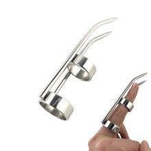 Stainless Steel metal finger sleeve Bondage BDSM restraint thumb cuff torture vagina nipple penis masturbator sex toy Slave Game