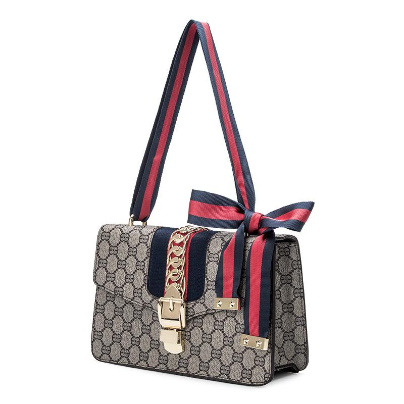 Small Bag 2018 Versatile Fashion Europe And America Kelly Bag New Style Wide-Strap Vintage WOMEN'S Bag Shoulder Bag/ Hand Bag Sh