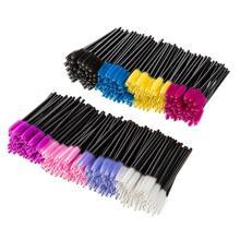 50pcs/lot Eyelash Brush Disposable Comb Mascara Wands Eye Lashes Extension Applicator Spoolers famale Makeup Tools Accessories