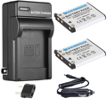 Аккумулятор (2 шт. в упаковке) + зарядное устройство для цифровой камеры Fujifilm FinePix L30  L50  L55  T400  T410  T500  T510  T550  T560  JX700  JX710