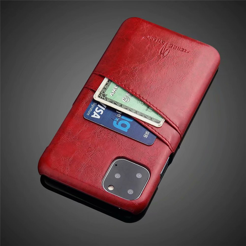 Slim Hard Leather Card Holder Case for iPhone 11/11 Pro/11 Pro Max 19