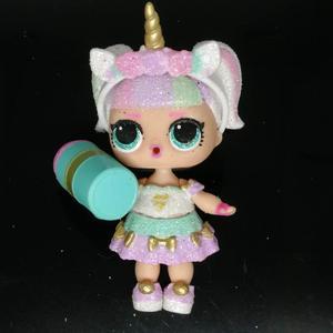 Оригинальные куклы LOLs, ультра редкий блестящий набор кистей с ручкой в форме единорога с аксессуарами, сверкающая серия L.O.L, сюрприз, игрушк...