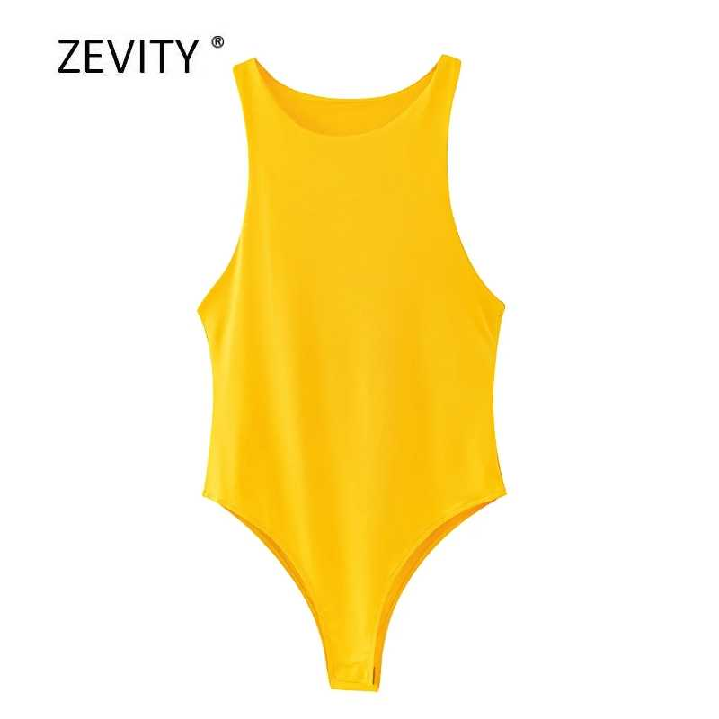 Yeni 2020 kadınlar seksi kolsuz katı renk slim bodysuits kadın chic o boyun yumuşak bluz marka ofis giyim playsuits tops LS6718