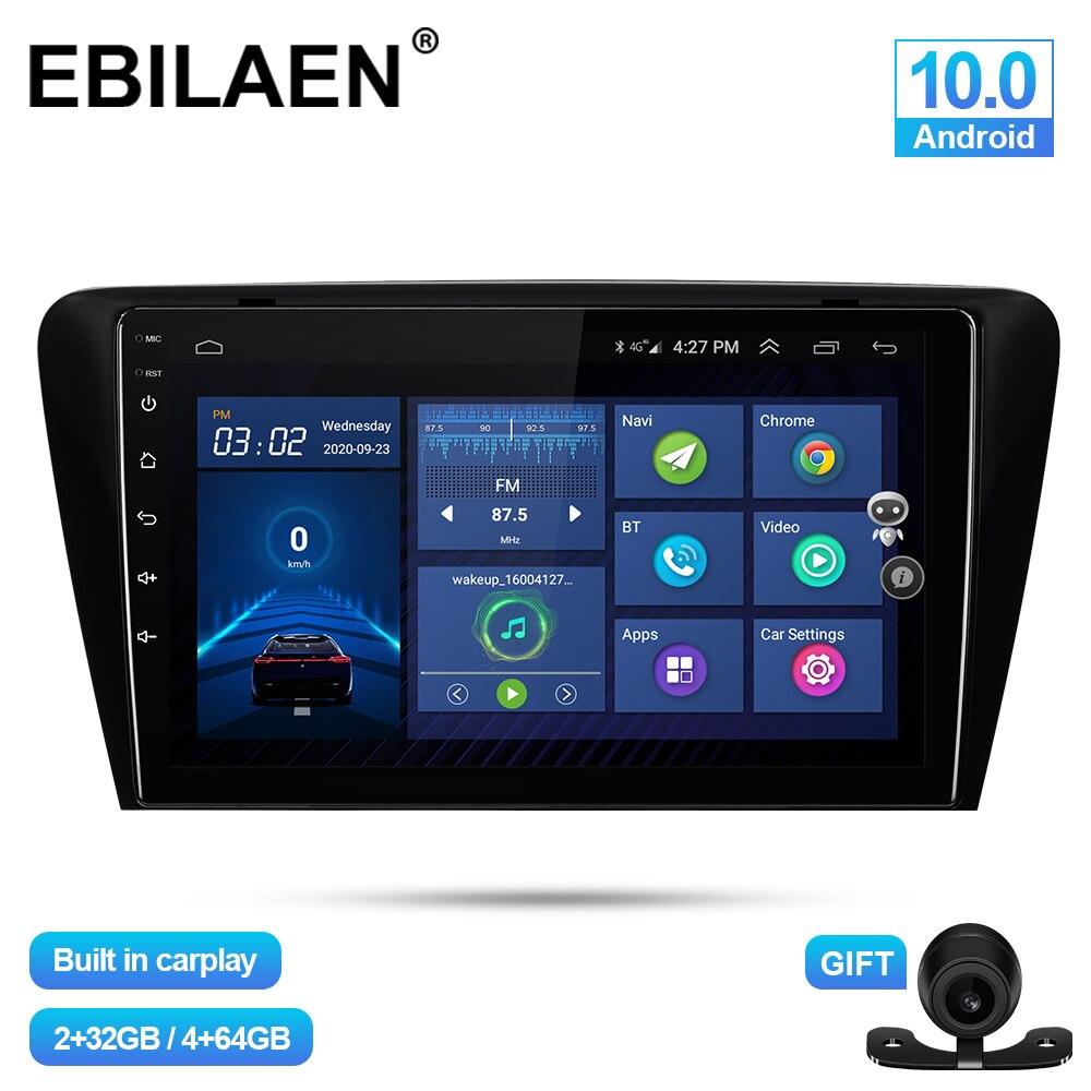 Автомобильный мультимедийный плеер EBILAEN, Android 10,0, для Skoda Octavia A7 III 3 2014-2018, Авторадио, навигация, GPS, камера, 4G, Wi-Fi, Carplay
