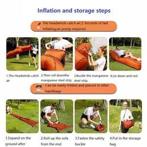 Image 4 - Tumbona inflable para la playa, a prueba de agua, antifugas de aire, para el hogar y el patio trasero