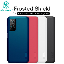 For Xiaomi Mi 10T 5G Case Super Frosted Shield Hard Matte Back Cover With Salient Dot Design For Mi 10T Pro K30S Nillkin Case