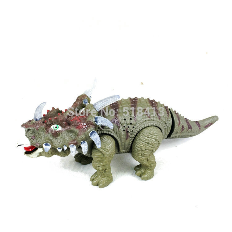 Dinosaur Electric Simulation Dinosaur With Light Music Educational Toy Model Toys For Children Ready-to-go Electronic Battery