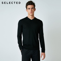 SELECTED 100% Wool Sweater Italian Merino V Collar Knit Clothes Men's Lightweight Knitwear Pullovers S | 418424501 3