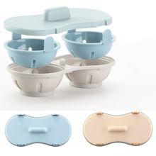 Двойная чашка для блинов, кастрюля для браконьеров, форма для вареных яиц, яичный горшок, яичный Браконьер, микроволновые печи, сковорода, кухонные аксессуары, инструмент для приготовления пищи