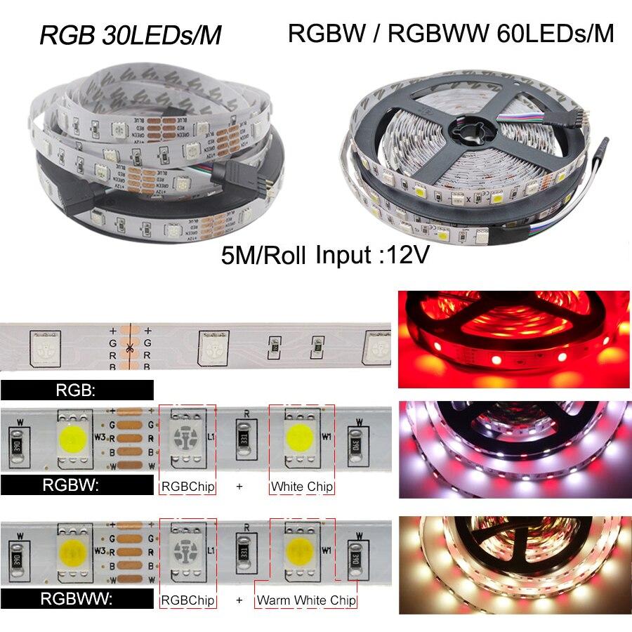 H7d1f18491f454a3490ff8d2406cd63f8Z 5050 LED Strip WIFI RGB RGBW RGBWW 5M 10M 15M RGB Led Color Changeable Flexible LED Strip Light + WIFI Remote Controller + Power
