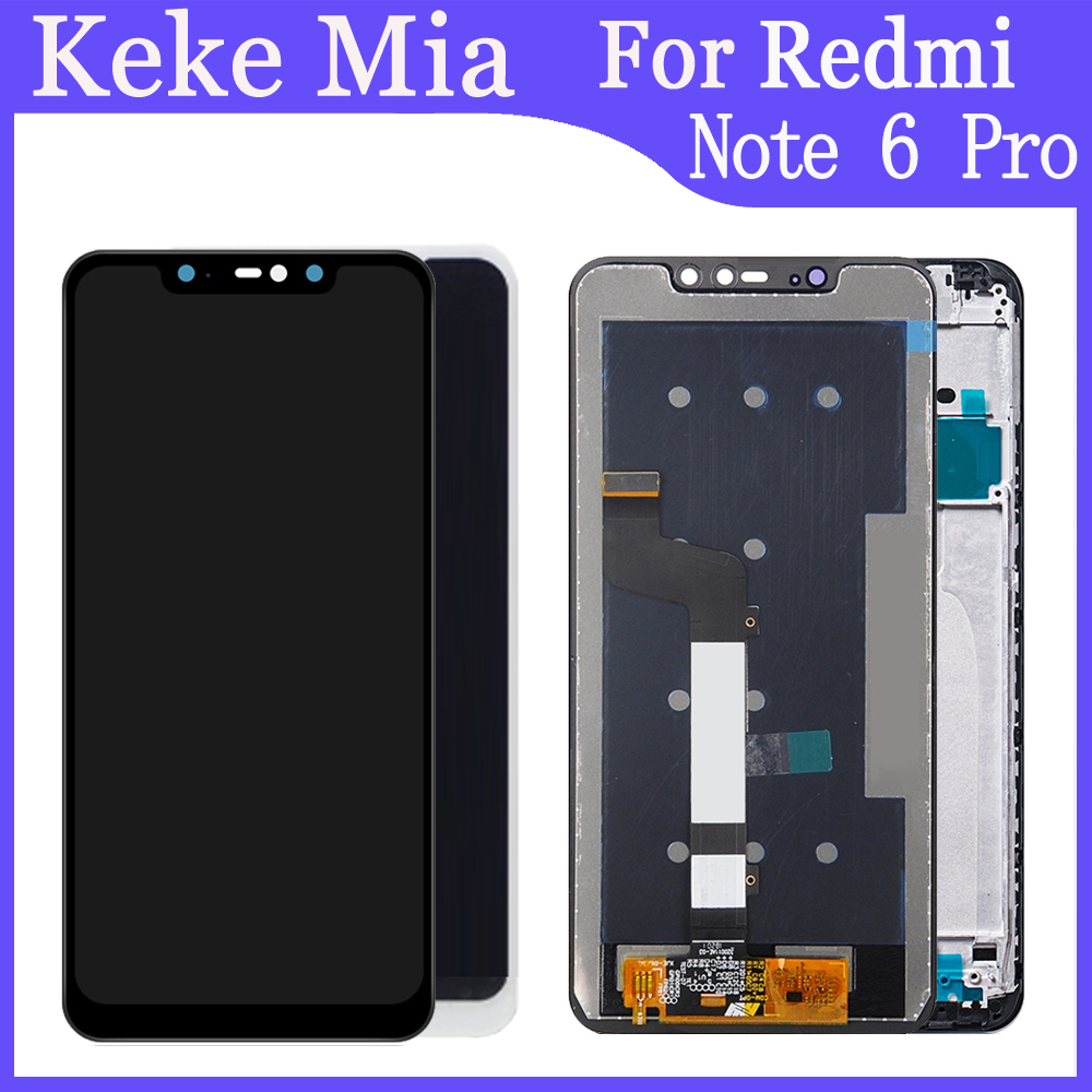 """AAA Original LCD+Frame 6.26"""" inch For Xiaomi Redmi Note 6 Pro LCD Touch Screen Digitizer Assembly With Frame Replacement