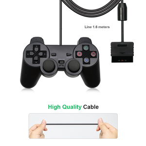 Image 3 - Wired Gamepad עבור Sony PS2 בקר עבור Mando PS2/PS2 ג ויסטיק לפלייסטיישן 2 רטט הלם Joypad Wired Controle