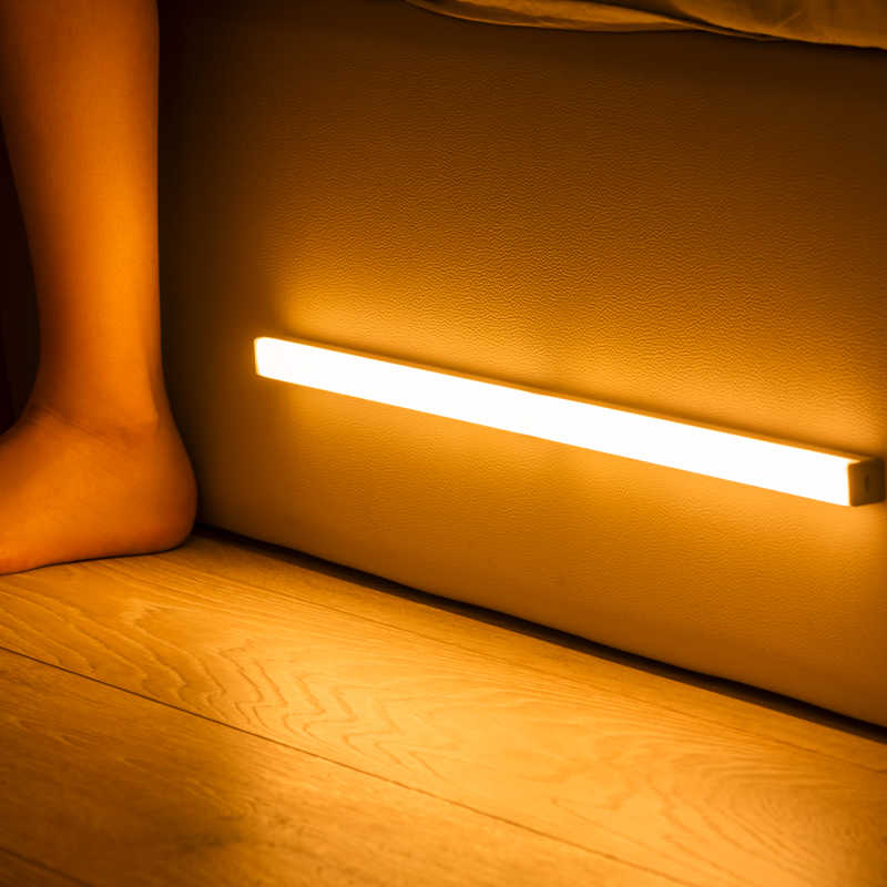 2020 Led Night Light Motion Sensor Draadloze Usb Oplaadbare 20 30 40 50 Cm Night Lamp Voor Keukenkast Garderobe wandlamp