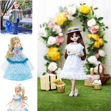 TAKARA TOMY Licca Doll Dress up Princess Girls Toy BJD Kids Gift Baby Toy 23cm Fashion Dolls 1 12 original girls bjd doll 14 joint baby doll toy lovely princess body nude bjd doll dress up baby toy for girls gift kids toy