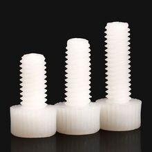O branco náilon encanta o comprimento 5-60mm dos parafusos do hexágono plástico do comprimento do parafuso m3 m4 m5 m6 m8 do tampão da cabeça do soquete