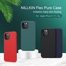 Funda de silicona líquida para iphone 11, carcasa suave trasera para iphone se 2020, 12 NILLKIN FLEX, xs 8
