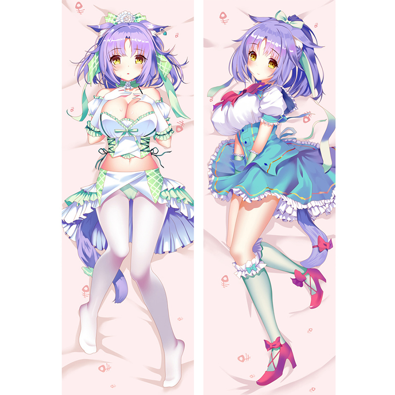 Wholesale Hot Japan Anime Game Nekopara Cinnamon Body Dakimakura Bedding Otaku Hugging Sexy Anime Girl Pillow Case Cover Female