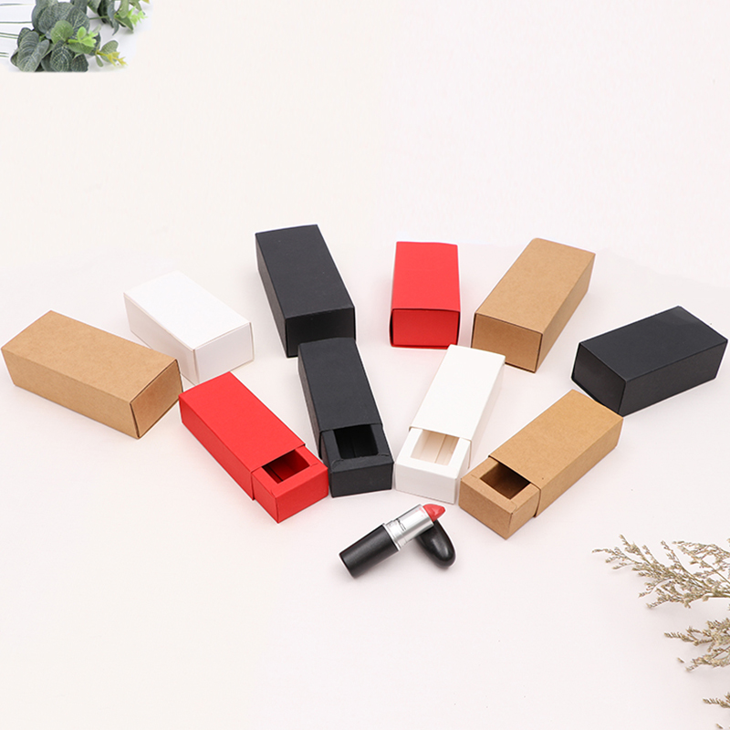 MissYe Store 10pcs/lot  craft paper package folding type boxes for gift lipstick