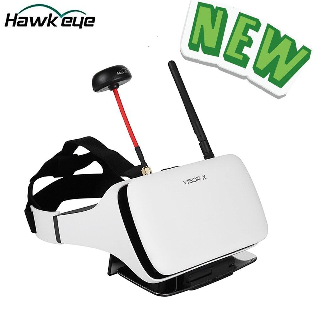 Nouveau Hawkeye Little Pilot VR tout-en-un 5 pouces vraie diversité FPV moniteur 5.8G 48CH double récepteur pliable lunettes pour Drone RC