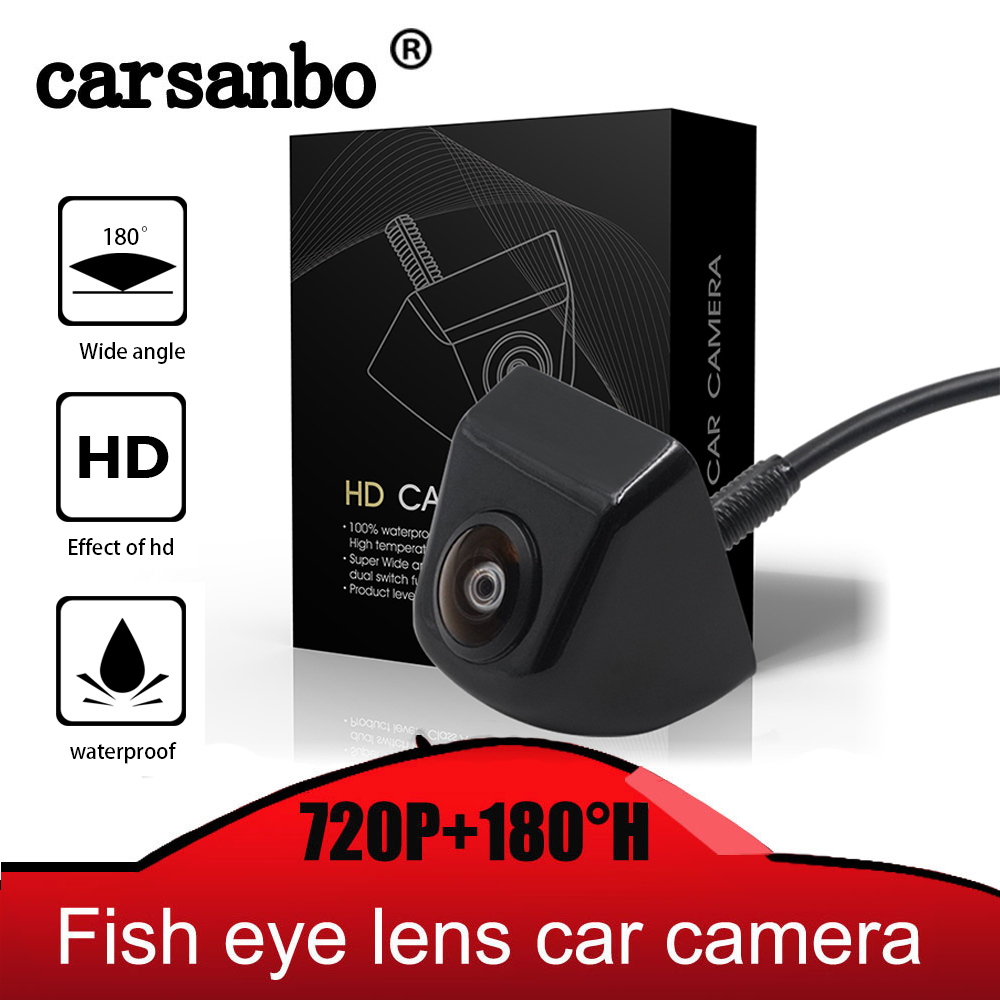 Fish Eye Lens Starlight Night Vision Vehicle Rear Front View Camera Reverse Camera HD 720P Vision With 180H Wide Angle