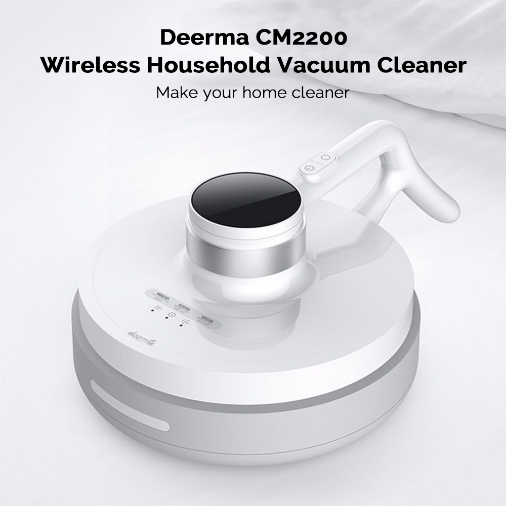 XIAOMI DEERMA CM2200 Wireless Anti Dust Mites UV Vacuum Cleaner with Soft Rolling Brush for Bed and Sofa 8
