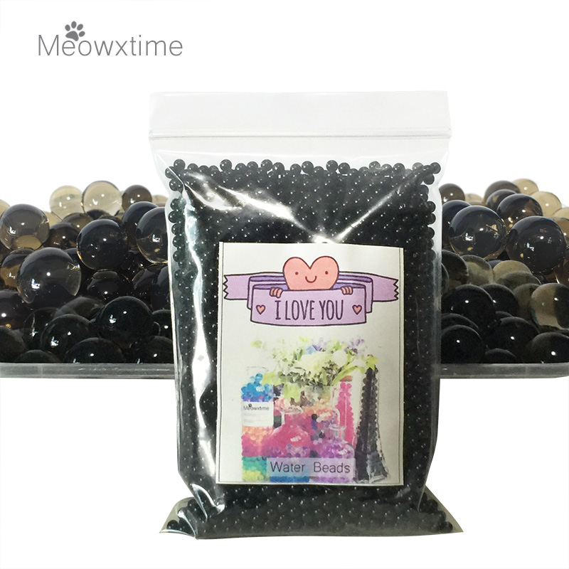 5000 Pcs/lot Crystal Soil Water Beads Hydrogel Gel Polymer Seeds Flow Mud Grow Ball Beads Orbiz Growing Bulbs Children Toy Ball