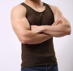 . .. Hot Sales Mannen Hemd Vest Mouwloos Casual Stijl