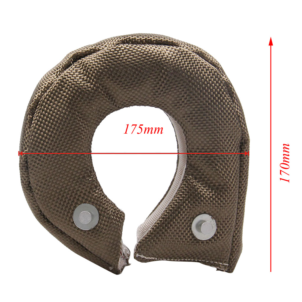 Turbo Blanket Turbocharger Heat Shield Cover Wrap  Auto Turbo Heat Shield Barrier Compatible With Many Vehicles