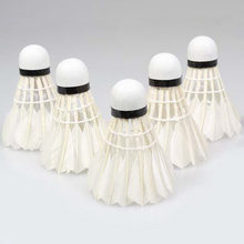 5pcs Goose Feather Shuttlecock Bird White Badminton Ball Game Sport Training(China)