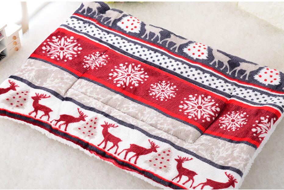Estera de cama para perro vellón cálido invierno 5