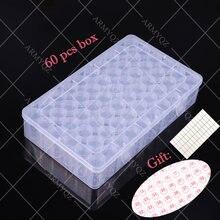60 слотов пластиковая коробка для хранения бутылки алмазная