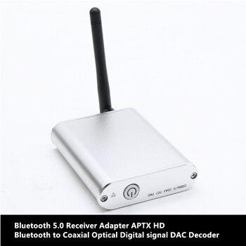 CSR8675 Bluetooth V5.0 Receiver Adapter APTX HD Bluetooth to Coaxial Optical Digital signal DAC Decoder