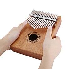 W 17T 17 touches Kalimba pouce Piano haute qualité bois acajou corps Instrument de musique avec livre dapprentissage air marteau pour débutant