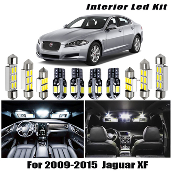цена на 13pcs White Canbus LED Light Bulbs Interior Package Kit For 2009 2010 2011-2015 Jaguar XF Map Dome Trunk License Plate Lamp
