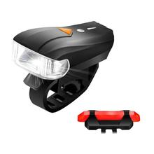 400LM Smart MTB Bicycle Front Light USB Rechargeable with Bike Tail Lamp Flashlight For Bicycle MTB Bike Rear LED Lights Kit nitenumen usb rechargeable 1060 lumen led bicycle front light mtb bike flashlight lamp built in battery rear light