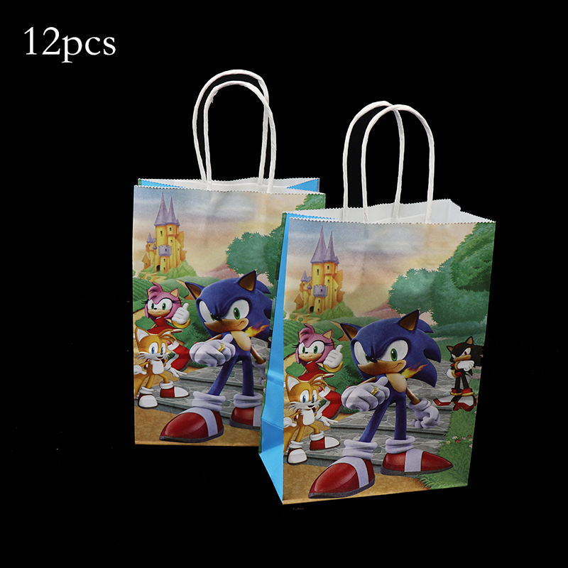 12pcs Sonic The Hedgehog Gift Boxes Sonic The Hedgehog Theme Birthday Party Decorations Sonic Theme Candy Boxes Gift Bags Wrapping Supplies Aliexpress