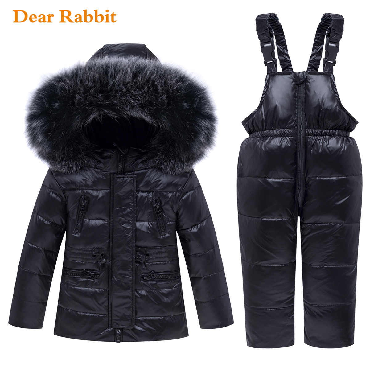 2019 new Winter Baby Boy Girl clothing Set warm Down Jacket coat Snowsuit Children parka Kids Clothes Ski suit Overalls overcoat