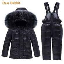 2020 neue Winter Baby Junge Mädchen kleidung Set warme Unten Jacke mantel Schneeanzug Kinder parka Kinder Kleidung Ski anzug Overalls mantel