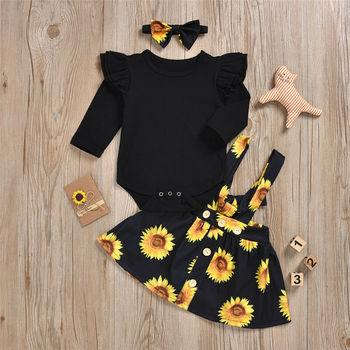 Baby Girl's Sunflower Patterned Clothing Set 5